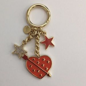 Michael Kors Orange Mimosa Lucky Heart Key Charm